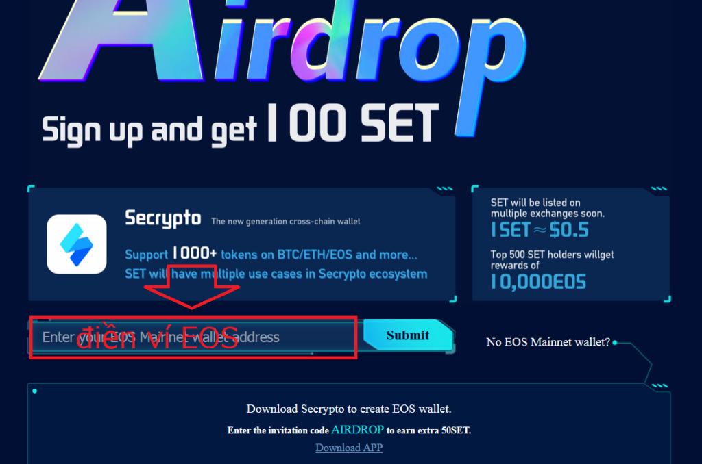 Secrypto là gì? Cách nhận coin SET miễn phí tại ví Secrypto.io
